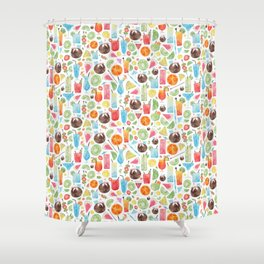 Summer Fruit Cocktail Shower Curtain