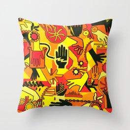 Hand Hazards Throw Pillow