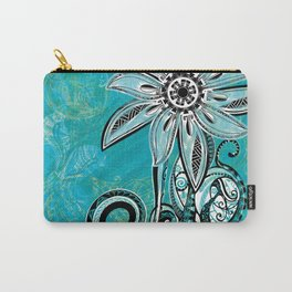 Trbal Floral Theads Carry-All Pouch