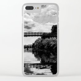 Zilker Park- Austin, Texas - Black and White Clear iPhone Case