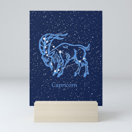 Capricorn Constellation and Zodiac Sign with Stars Mini Art Print