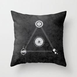 Cosmic Trinity Throw Pillow