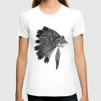 headdress T-shirts featuring Native Headdress by Caleb Swenson