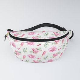 Tropical Chill Rose Pattern Fanny Pack