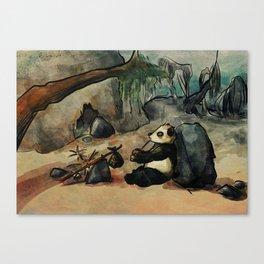 Panda on yerba mate break Canvas Print