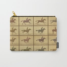 Time Lapse Motion Study Horse muted Carry-All Pouch