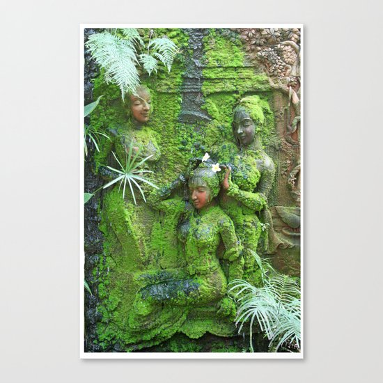 Green Ladies Canvas Print