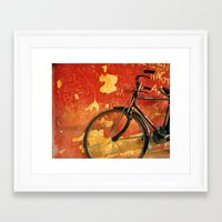 cycle Framed Art Prints featuring cycle by Vani
