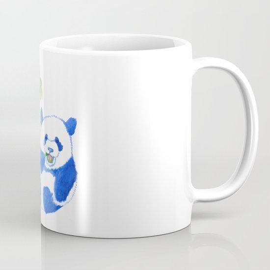 Panda eating bamboo Watercolor Print Mug