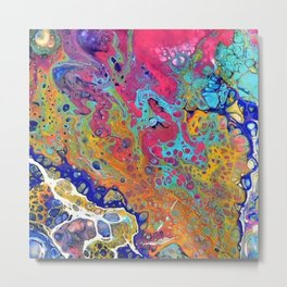 Pink Bubbles Metal Print