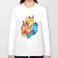 eevee Long Sleeve T-shirts featuring EEVEE by Rosie