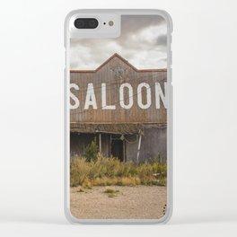 Saloon, Wabek, North Dakota 1 Clear iPhone Case