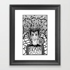 Brain Damage  Framed Art Print