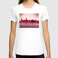 new york T-shirts featuring new york new york by Bekim ART