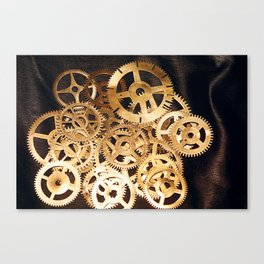 Gears & Leather Canvas Print