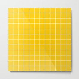 Sunshine Grid Metal Print