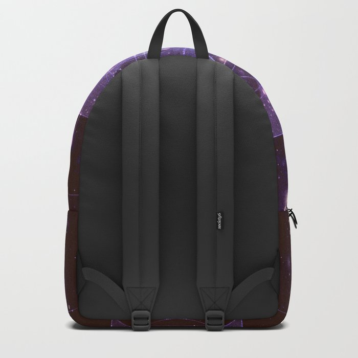 Galaxy Sacred Geometry: Purple Rhombic Hexecontahedron Backpack
