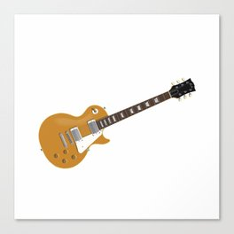 Gold Electric Guitar Canvas Print