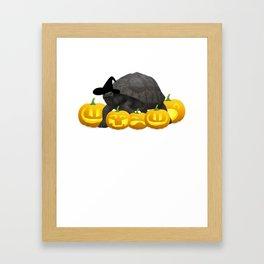 Halloween Turtle Witch Hat Jackolanterns Framed Art Print