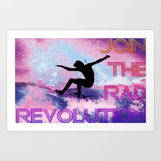 RAD revolution  Art Print