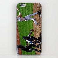 baseball iPhone & iPod Skins featuring Baseball by Mylittleradical