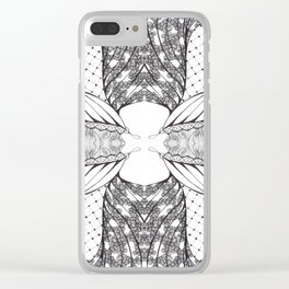 Black and White Zen Doodle 4 Clear iPhone Case