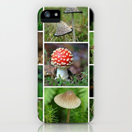 Mushrooms Collage - Cafe or Kitchen Decor iPhone Case