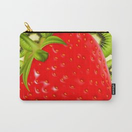 GREEN KIWI & RED STRAWBERRY ART Carry-All Pouch
