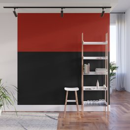 Black Red Color Block Wall Mural
