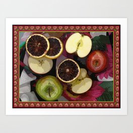 Apples and Blood Oranges Border Two Art Print