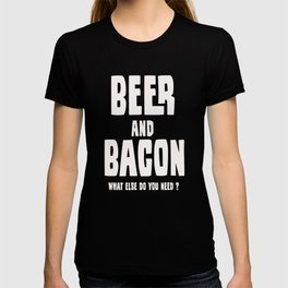 Beer and Bacon Design T-Shirt T-shirt