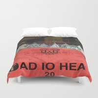 radiohead Duvet Covers featuring Radiohead 20 by W. Keith Patrick