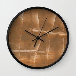 Sienna blurred wash drawing Wall Clock