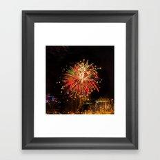 Firework collection 4 Framed Art Print