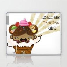 Ice Cream Chestnut Girl Laptop & iPad Skin