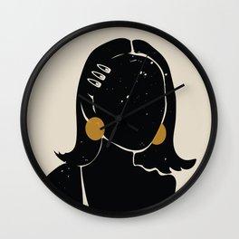 Black Hair No. 16 Wall Clock