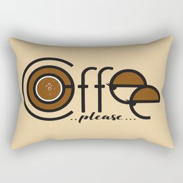 Coffee Please Rectangular Pillow