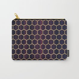 Purple Fusion Hexagon Pattern Carry-All Pouch