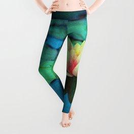 waterlily textures Leggings