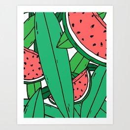 Watermelon bonanza Art Print