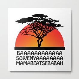 The Lion sing Metal Print