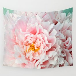 Peony Flower Photography, Pink Peony Floral Art Print Nursery Decor A happy life - Peonies 2 Wall Tapestry