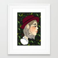 neutral milk hotel Framed Art Prints featuring Neutral by hannamitchell