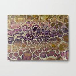Purple snakeskin Metal Print