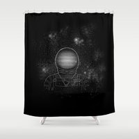 astronaut Shower Curtains featuring Astronaut  by Becky Hayes