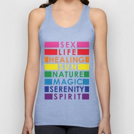 Rainbow Pride Colors Unisex Tank Top