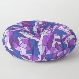 Falling crystals #14 Floor Pillow