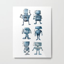 We Are All Robots Metal Print