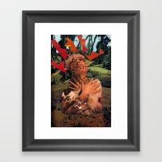 Lady Lightning Framed Art Print