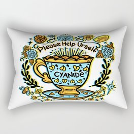 Poison of Choice: Cyanide TeaCup Rectangular Pillow